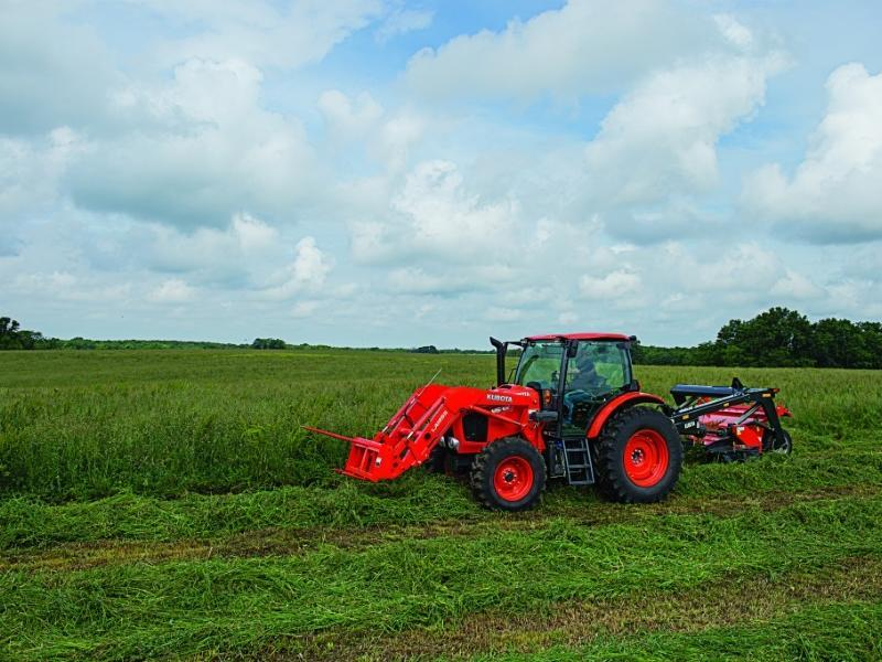 2019 Kubota M6-131 Tractor with tow behind ag mower