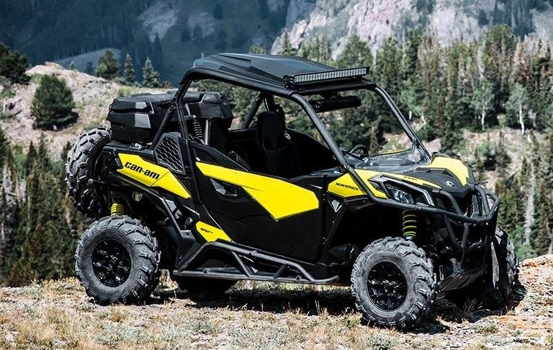 Can-Am UTV in forest