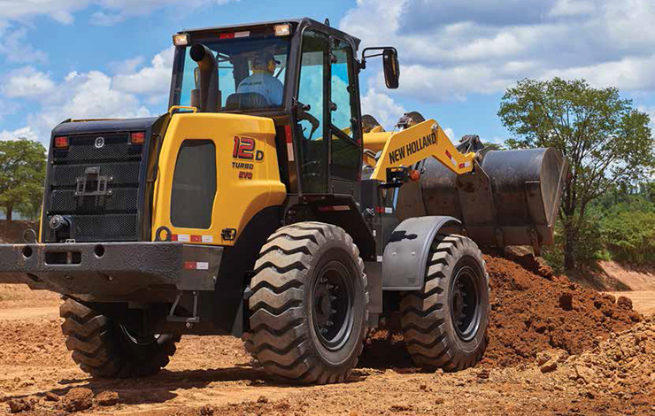 New Holland construction equipment getting to work