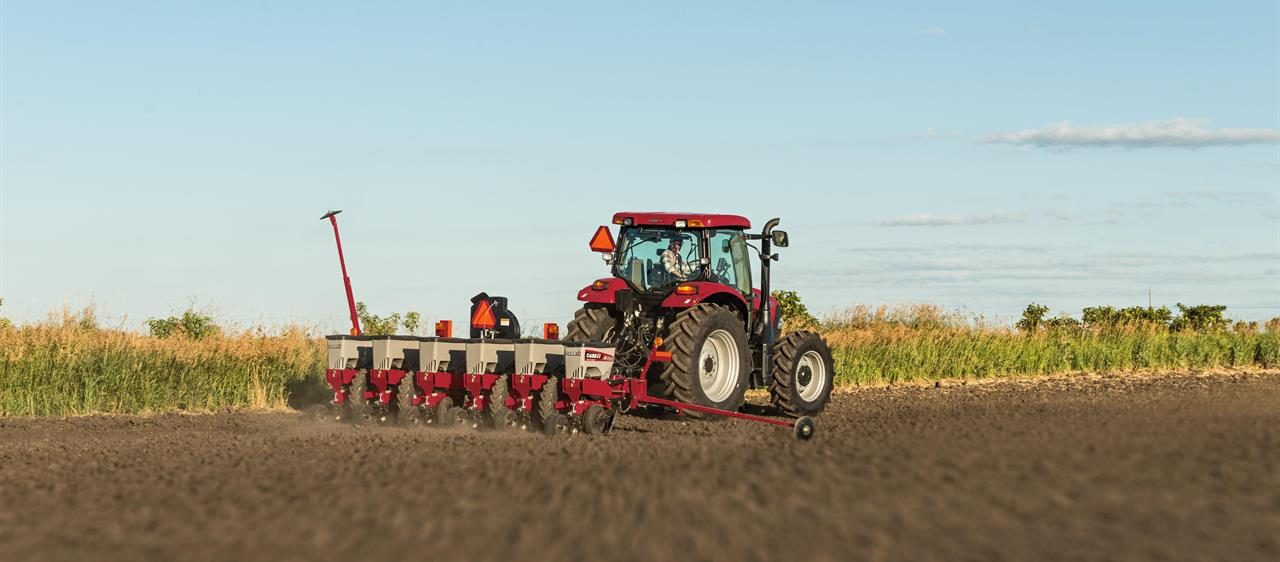 Case IH Ag Equipment working in a field.