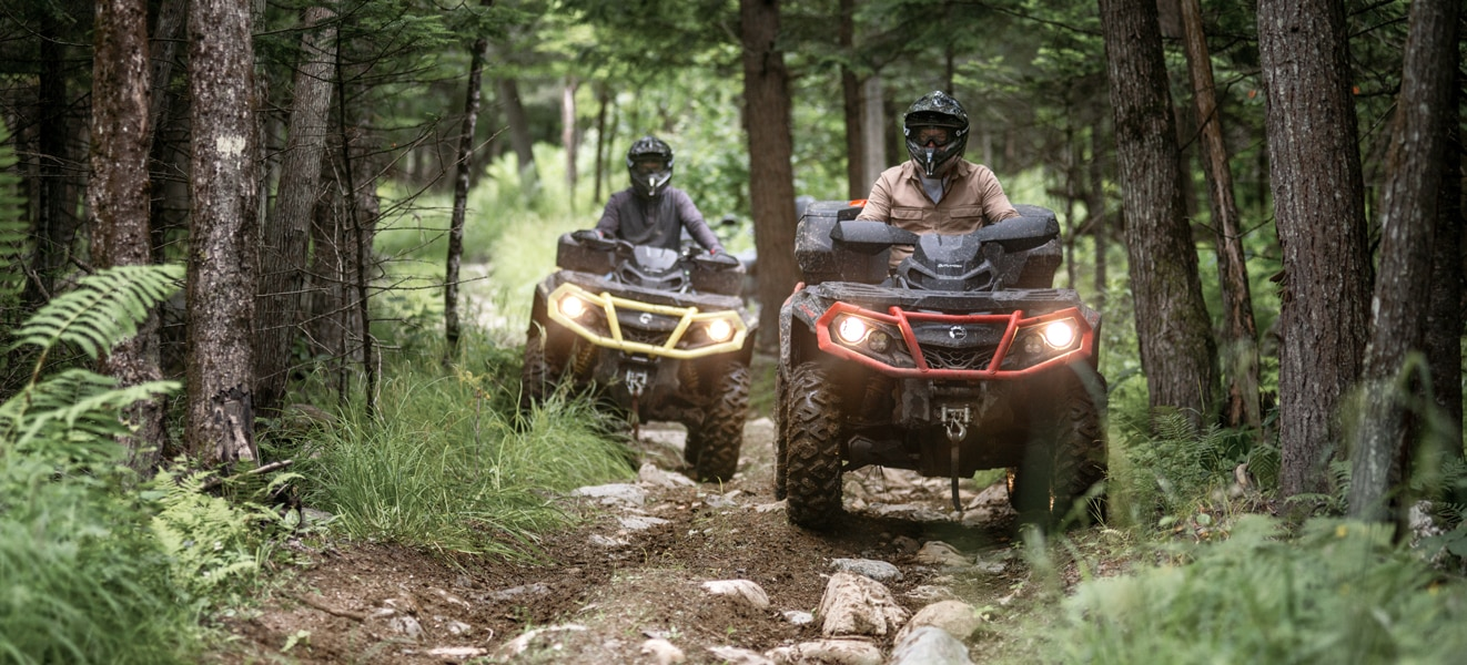 ATVs being used out on an adventure