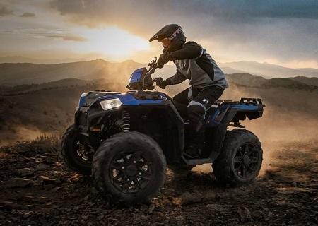 a biker using a 2019 Polaris Industries Sportsman® XP 1000