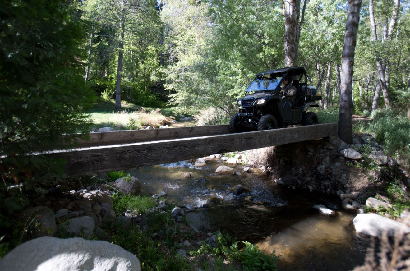 Honda Pioneer Side x Side on Bridge
