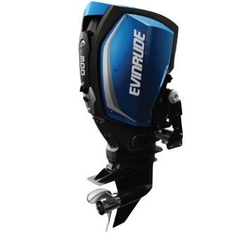 A 2019 Evinrude E300 outboard motor