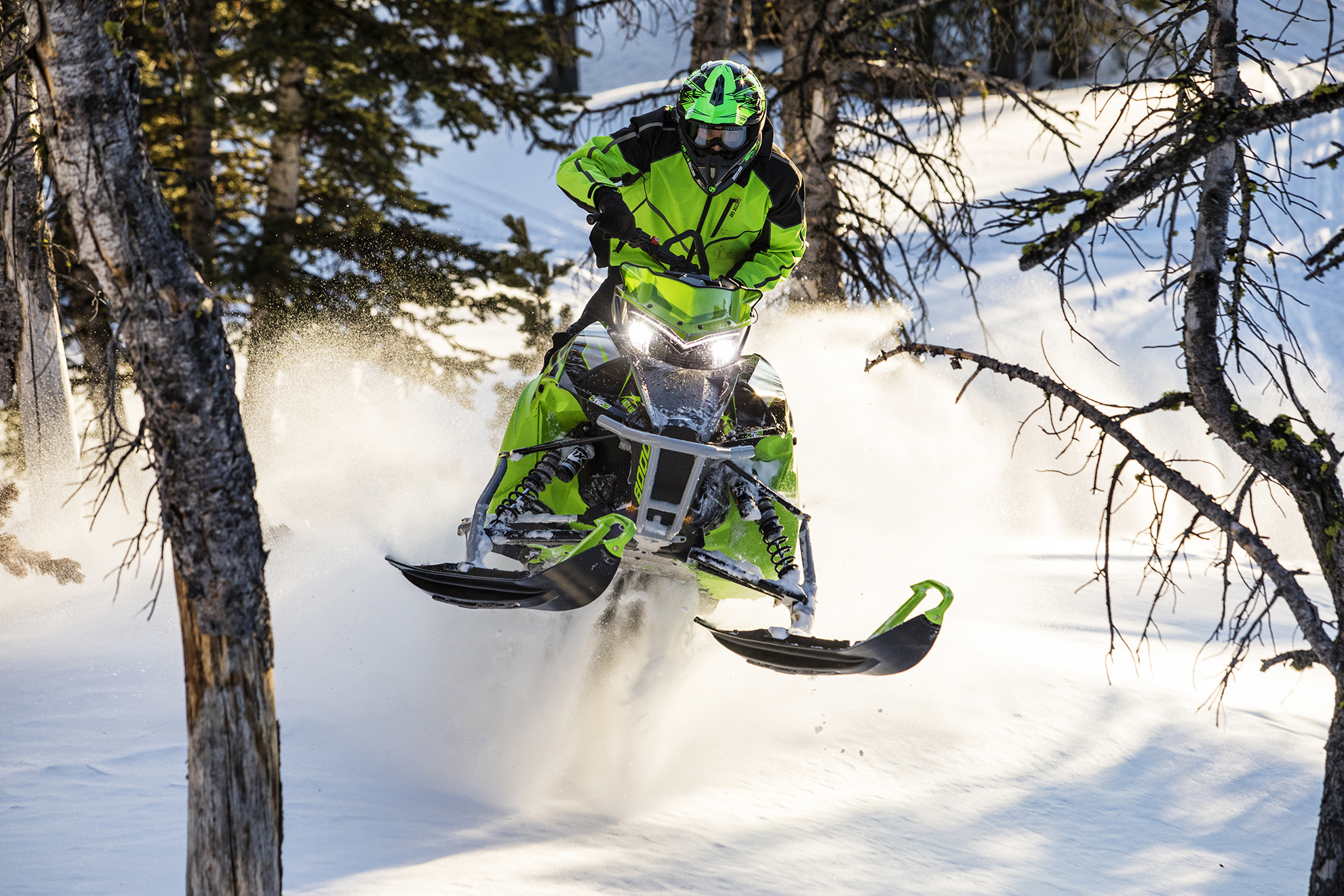 M Hard Core Mountain snowmobiles