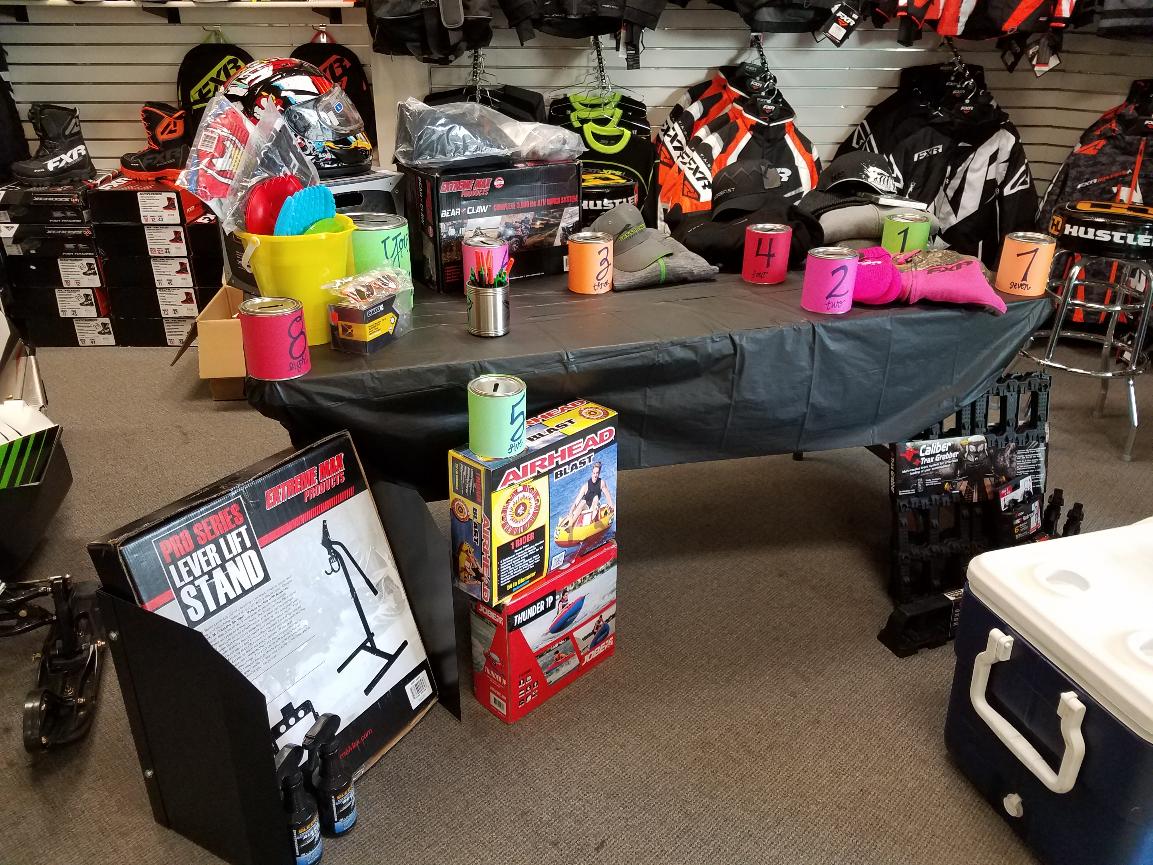 Lighthouse Motorsports and Marine Open House 2017 Prize Table