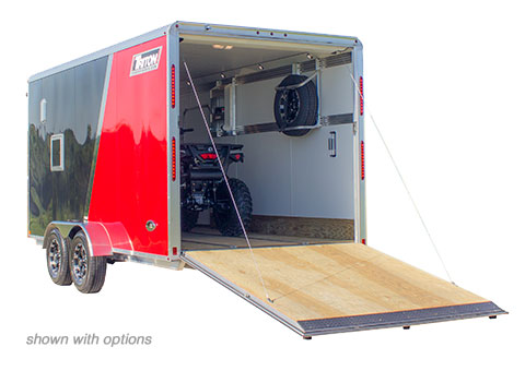Trailer with an atv inside