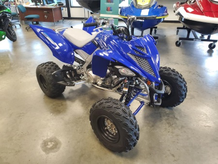 a 2020 Yamaha Raptor 700R Blue ATV