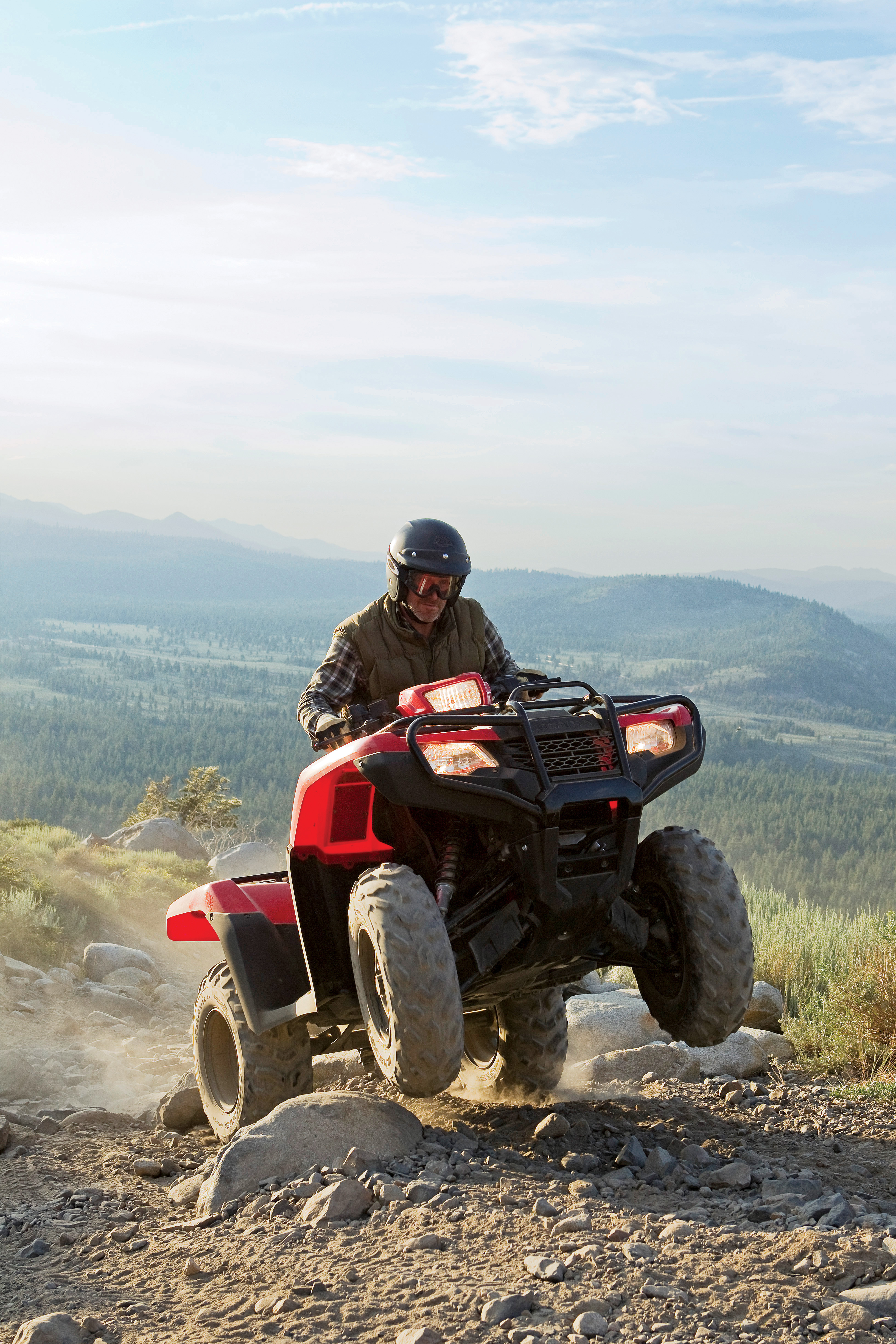 Honda ATV having fun