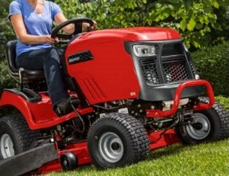 a woman on a 2019 Snapper SPX Series Lawn Mower