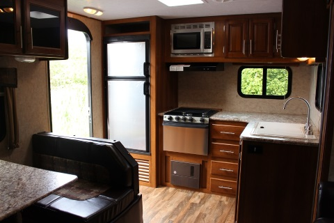 The interior 2016 Tracer by Prime Time Manufacturing TRACER 253AIR travel trailer