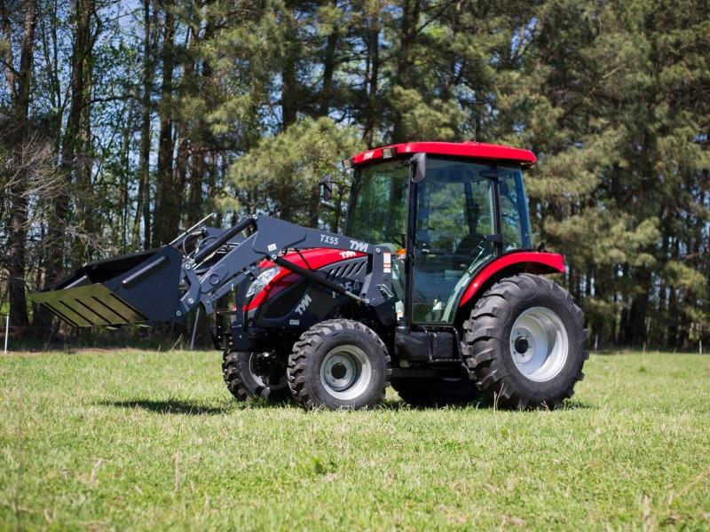 2018 TYM Compact Utility Tractor T554 in a green grass field