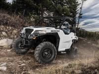 White 2019 Polaris® General® 1000 EPS on a trail