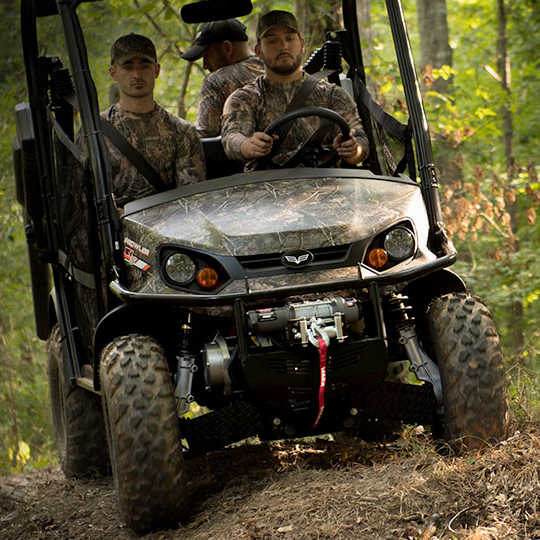 Textron Prowler Electric UTV in woods near Tully, NY