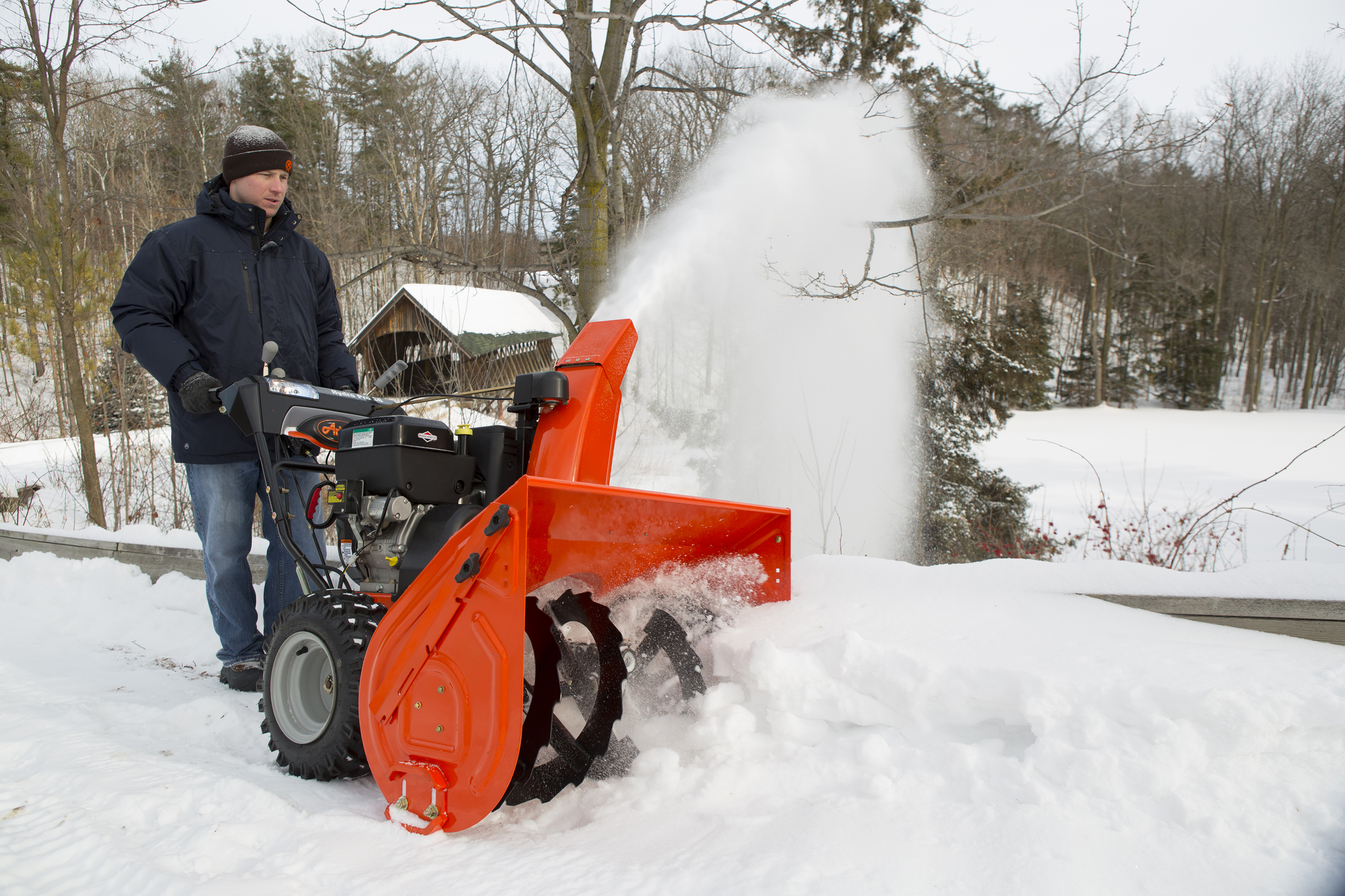 Snowblower in Driveway