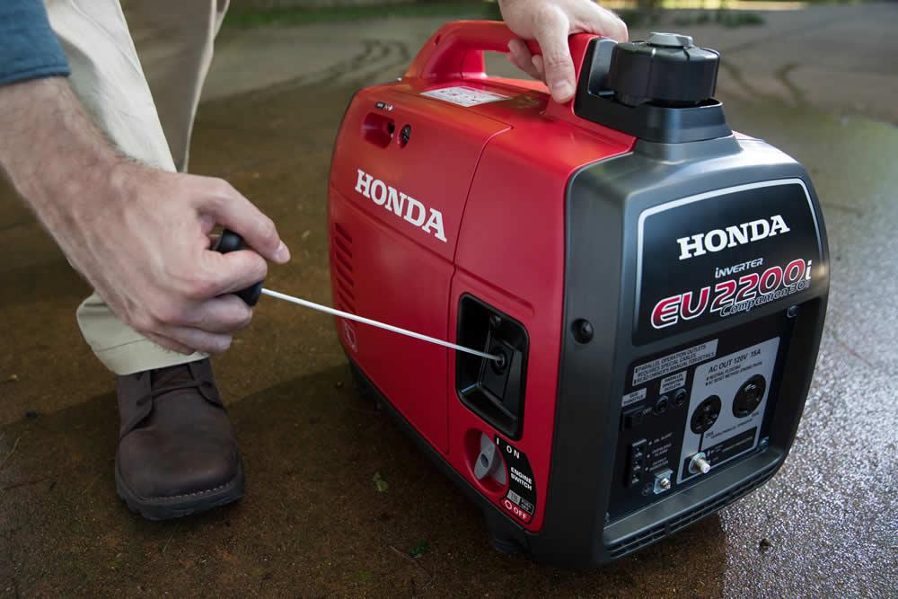 Honda Generator starting up for work