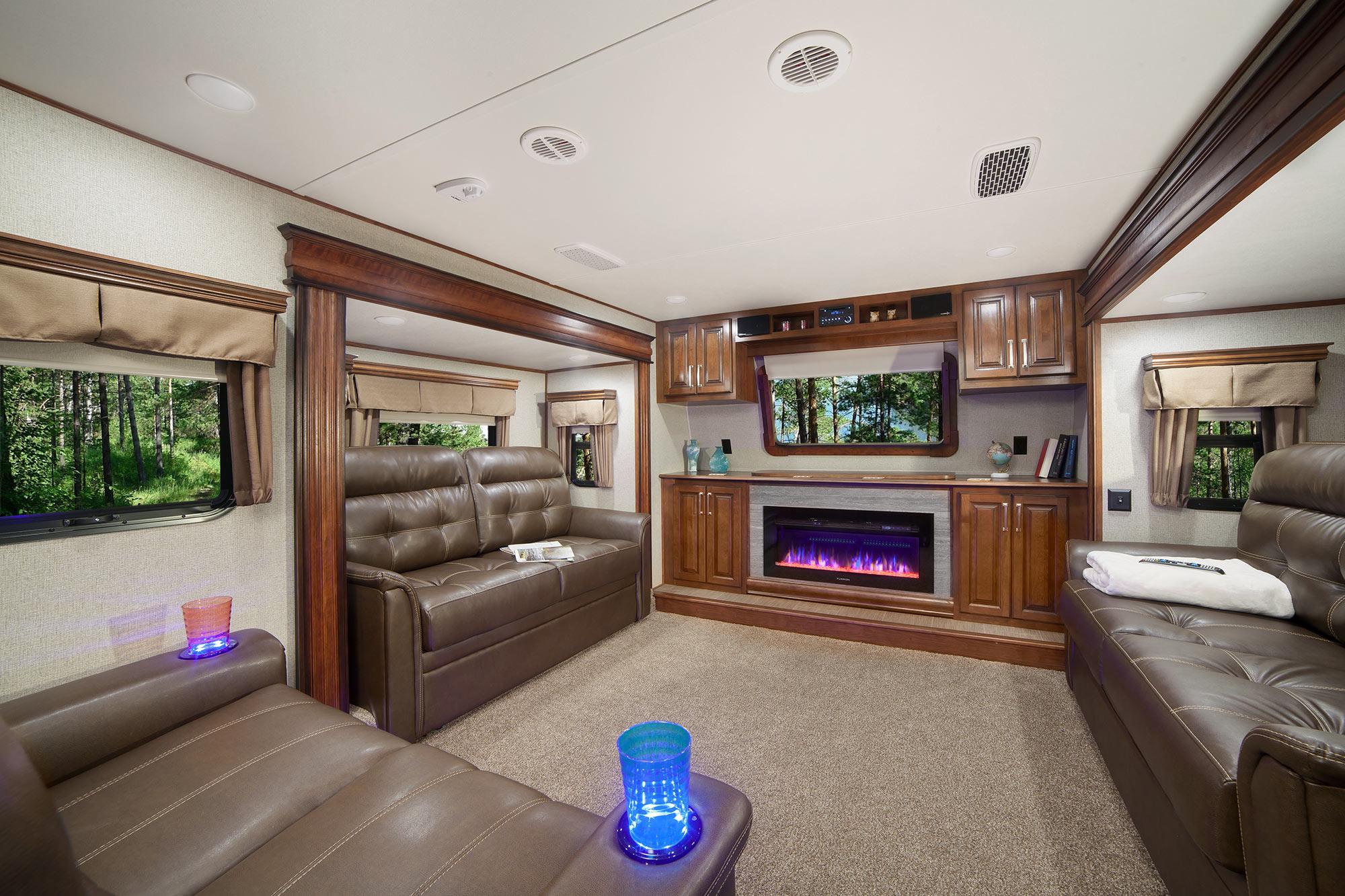 Keystone Alpine Fifth Wheel Living Room, Tiffin, IA