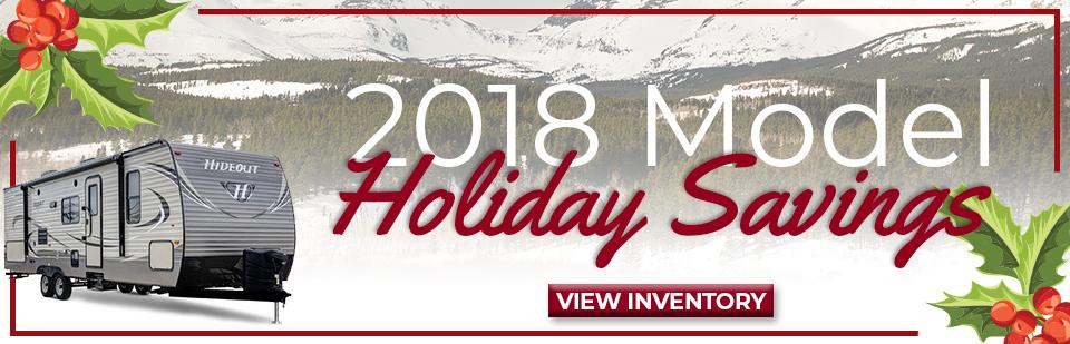 2018 keystone hideout inventory sale banner