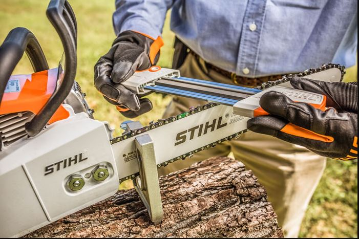 STIH®L chainsaw being sharpened