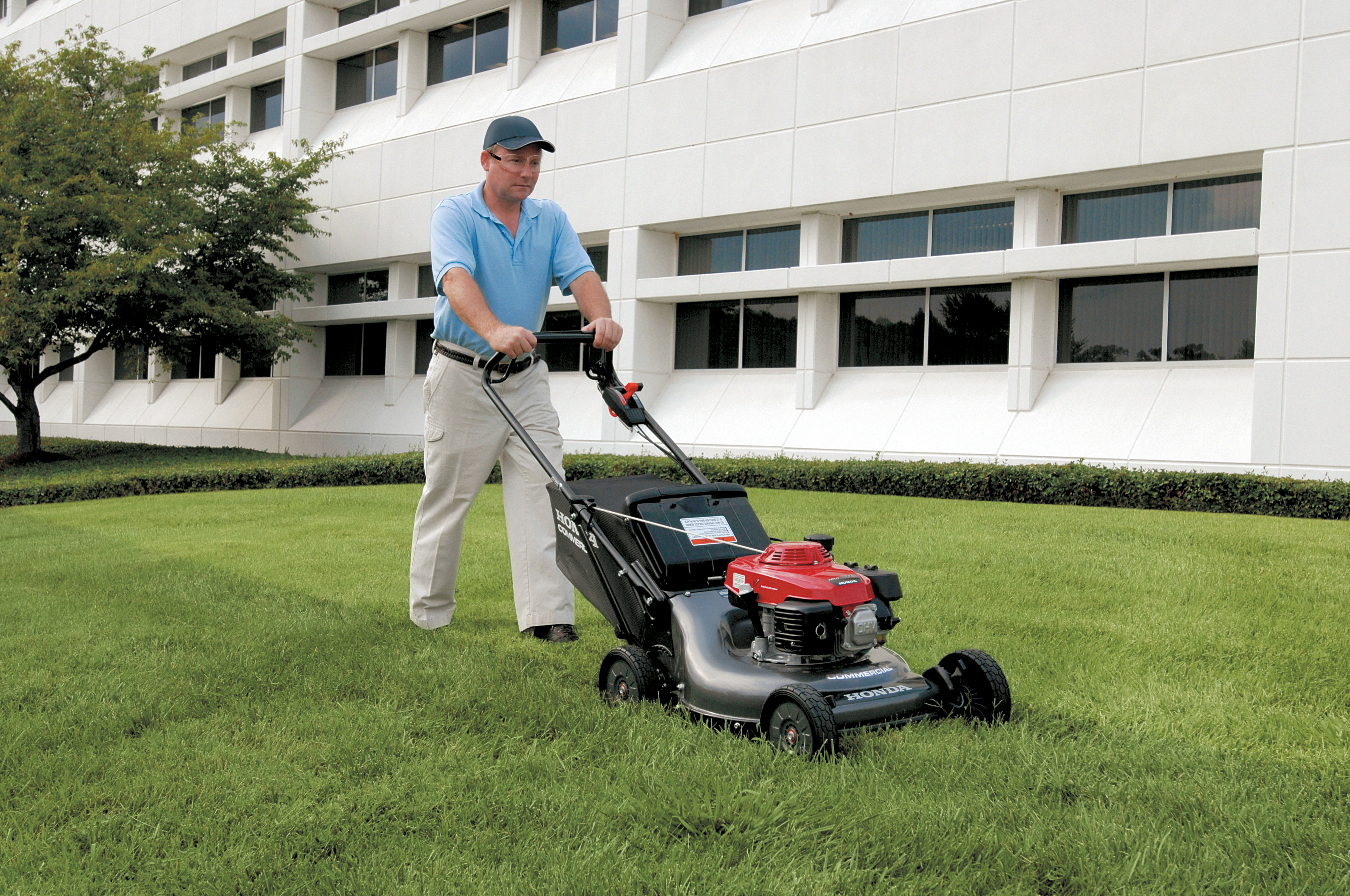 Man working with Honda HRC Mower in Cumberland, MD