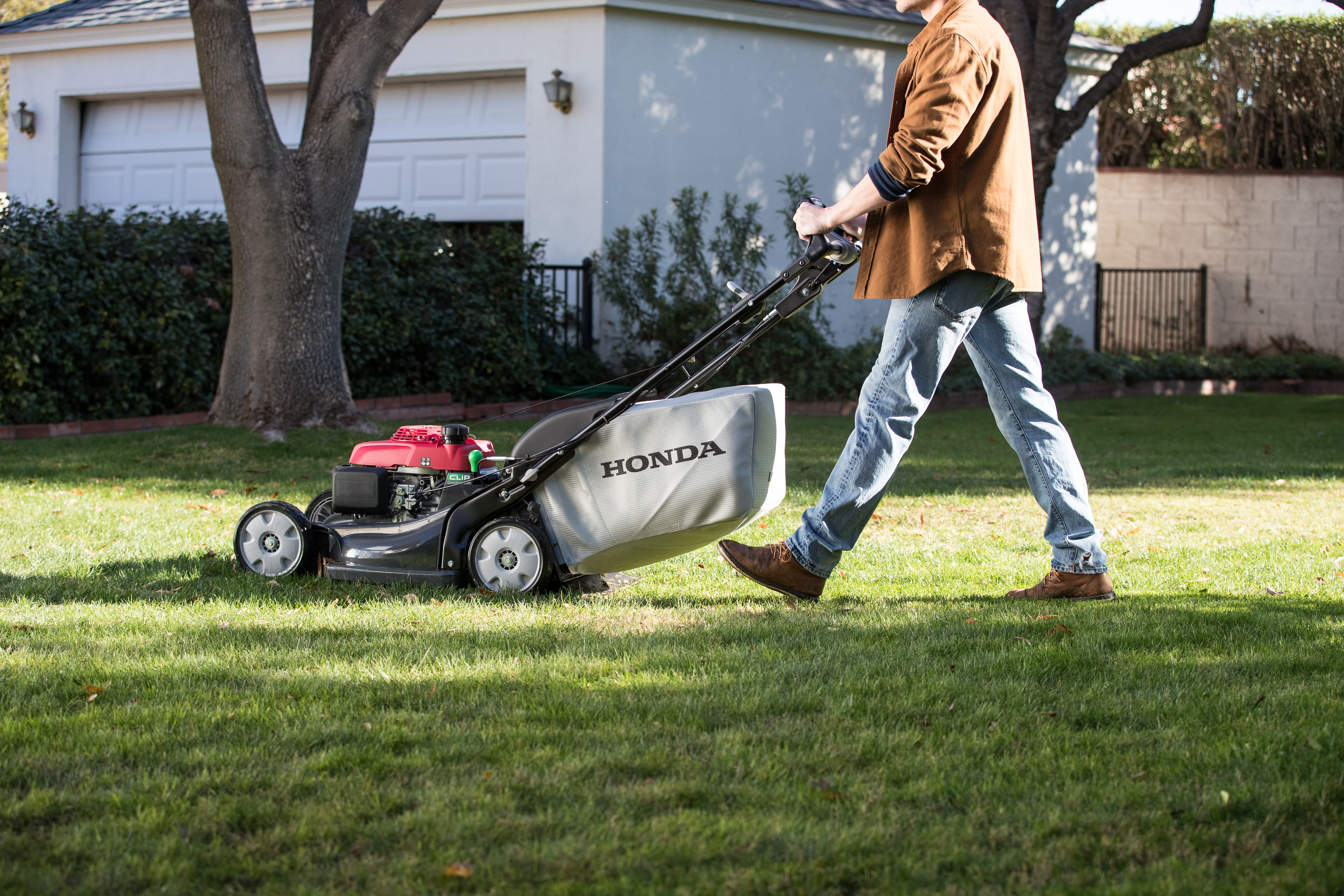 Man Mowing with Honda HRX Mower in Cumberland, MD