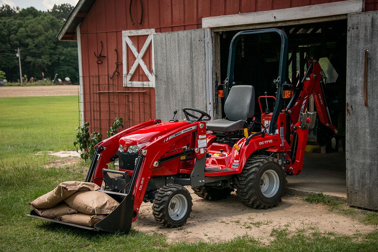 Massey GC 1700 Tractor in a Barn in Moses Lake Washington