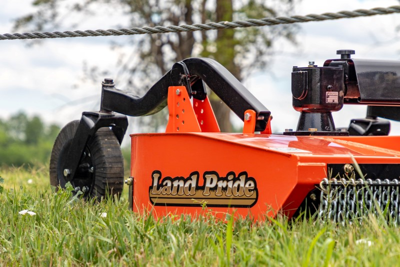 Land Pride Rotary Cutter Removing Weeds