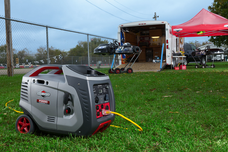 Briggs & Stratton P3000 PowerSmart Series™ Inverter Generator at race track
