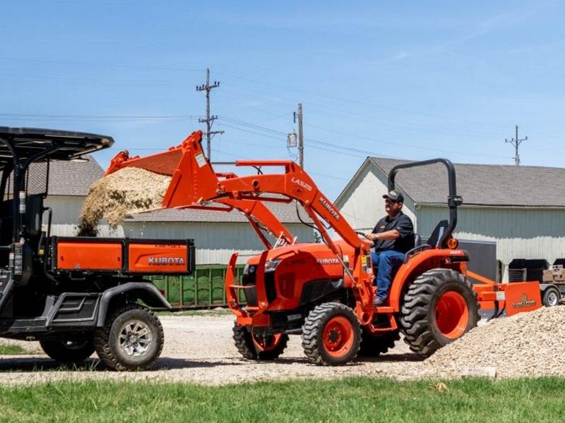 Kubota Tractor with Land Pride Attachments