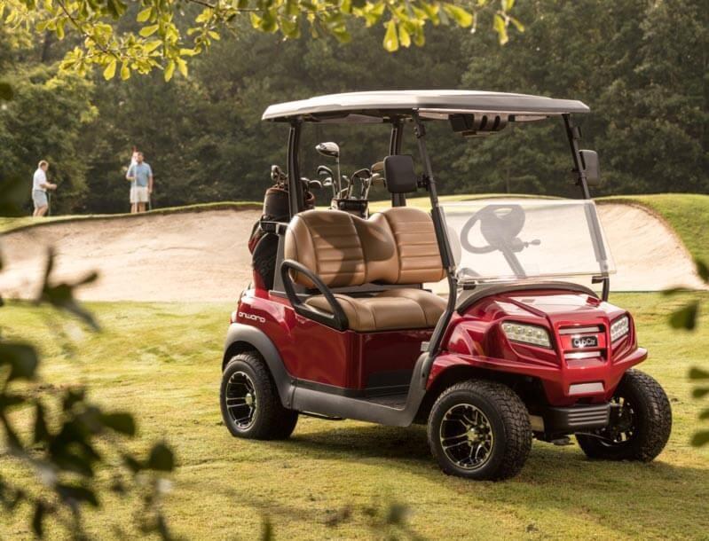 Club Car on a Golf Course