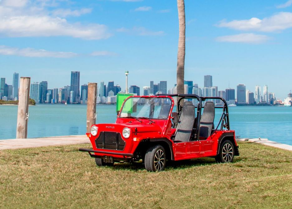 Red MOKE Electric Vehicle