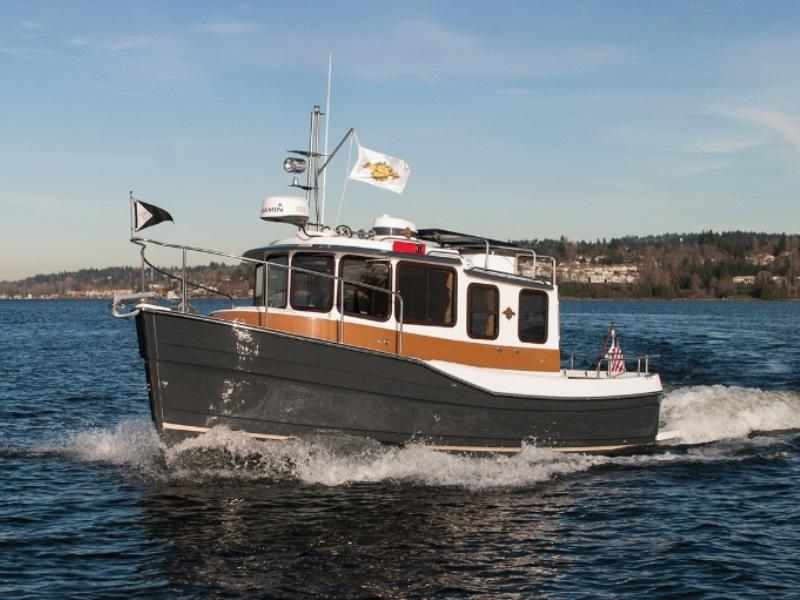 2017 Ranger Tugs R-25SC on the water