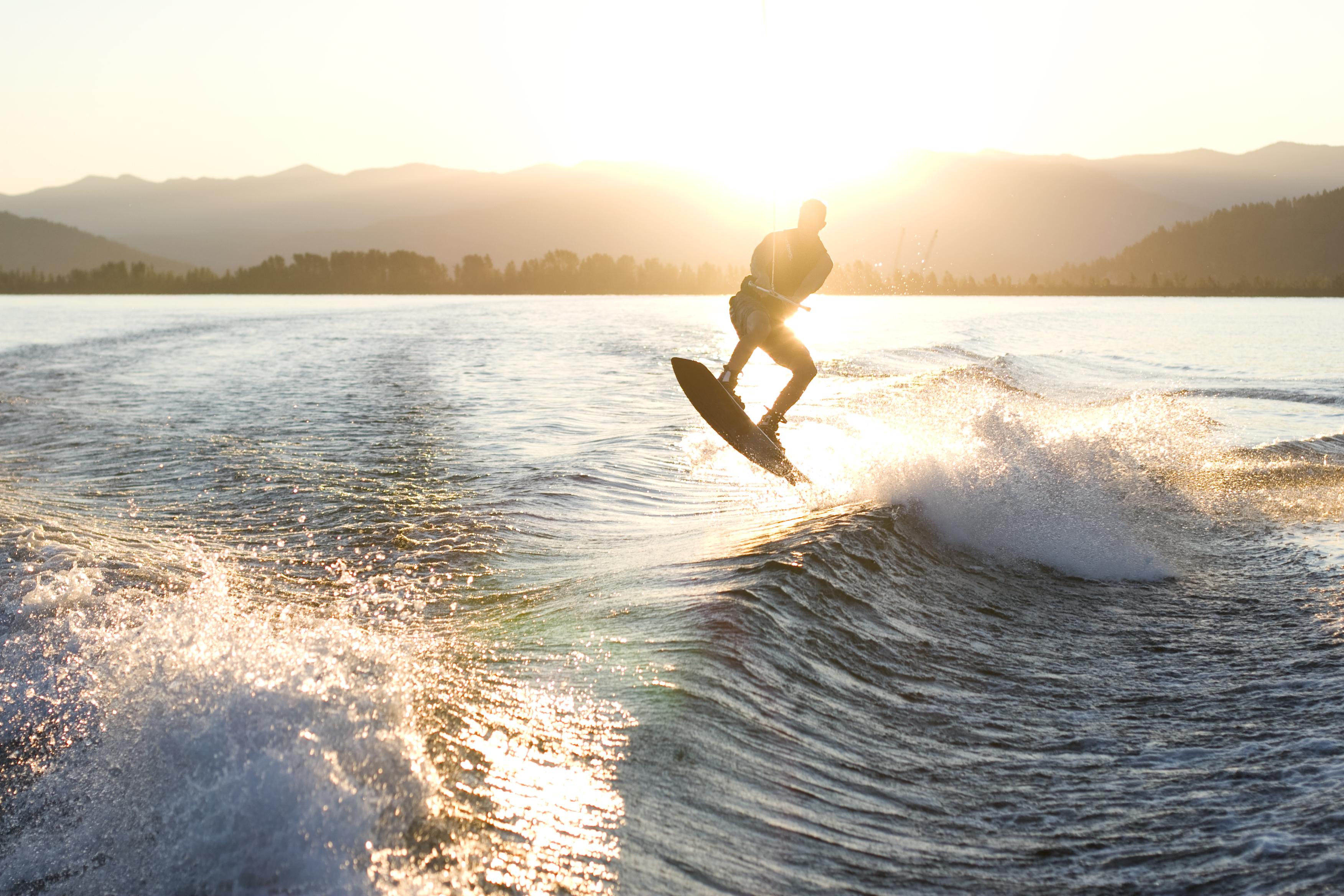 Wakeboarding outside El Cajon, CA