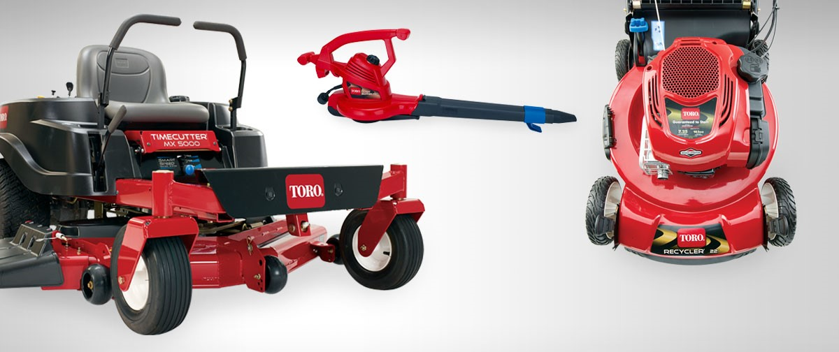 Collection of Toro yard care equipment