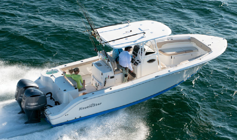 NauticStar boat with Yamaha outboards