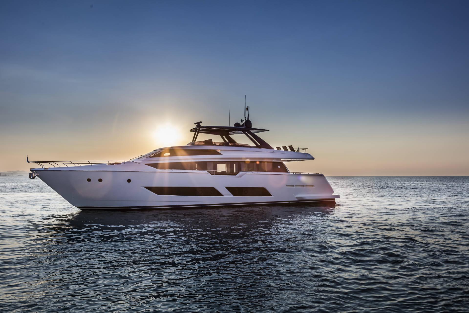 Ferretti Yacht On Water