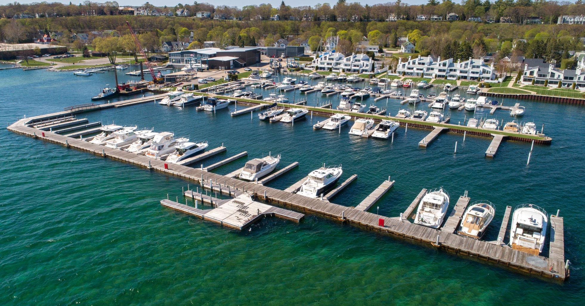 Boat Docks and Storage, Bay Harbor Michigan