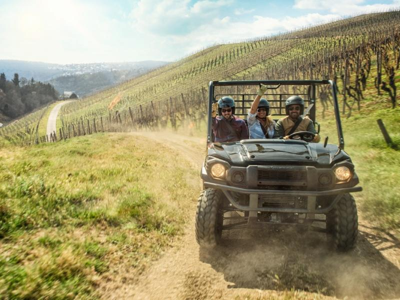 2018 Kawasaki Mule Pro FX on a road