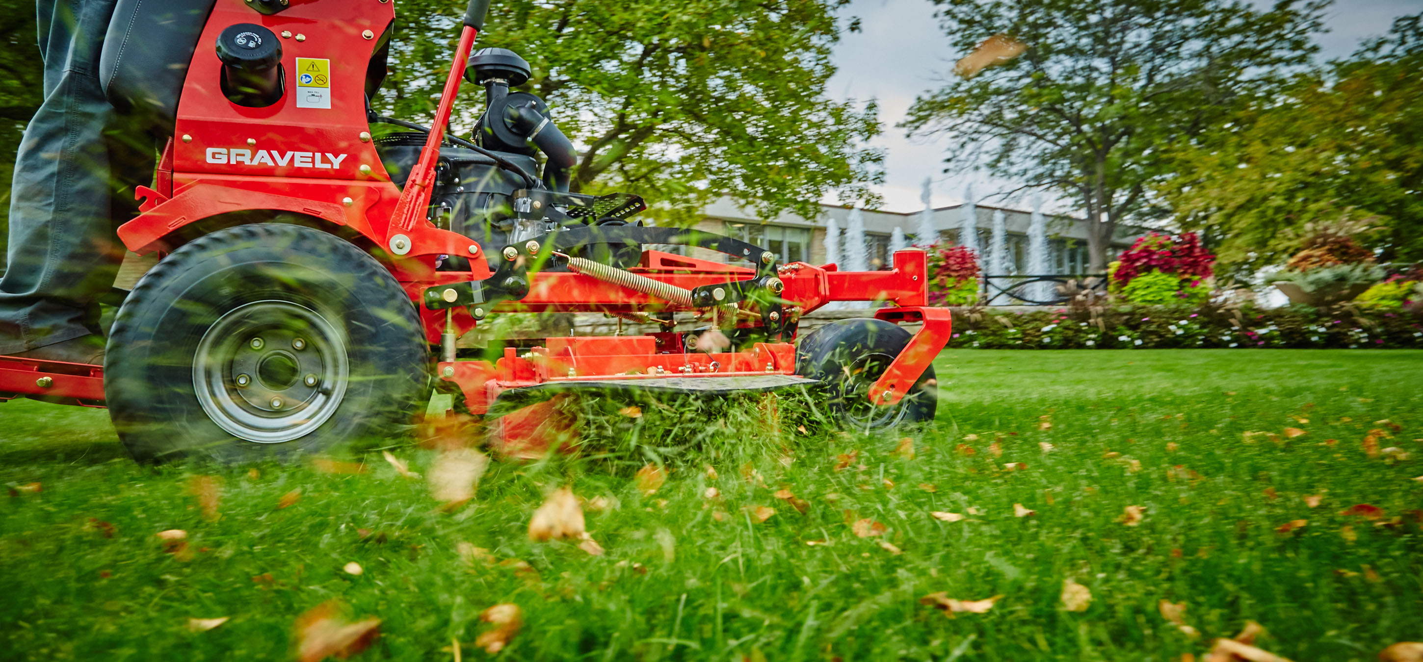 Gravely Pro Stance Mower Close Up in Lancaster, NH