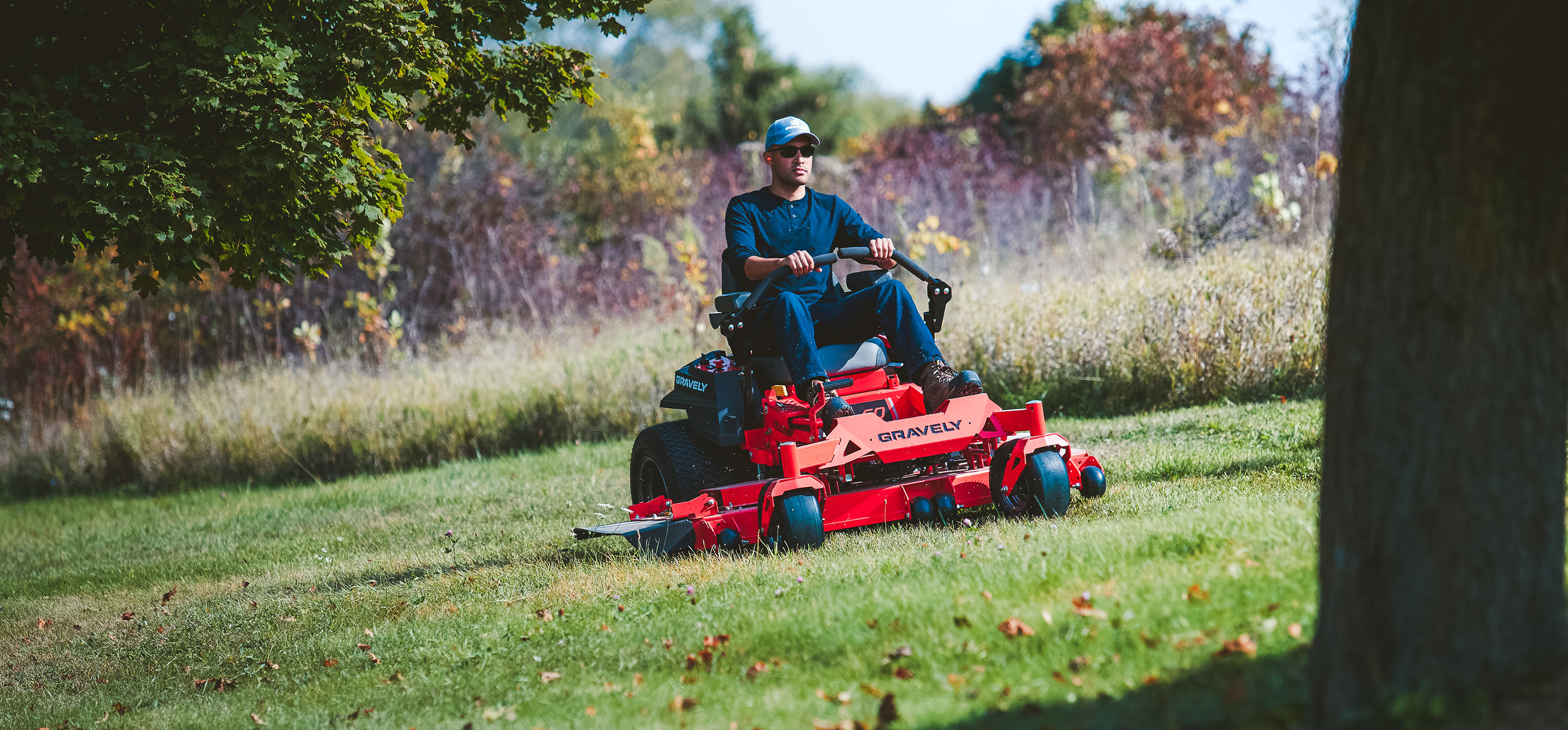Gravely ZT Mower on hill in Lancaster, NH