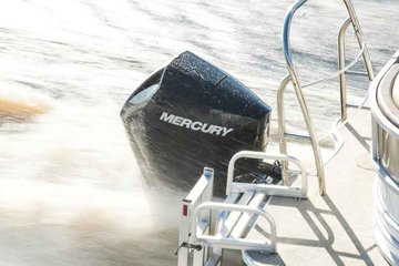 Mercury Marine outboard in the water propelling a boat