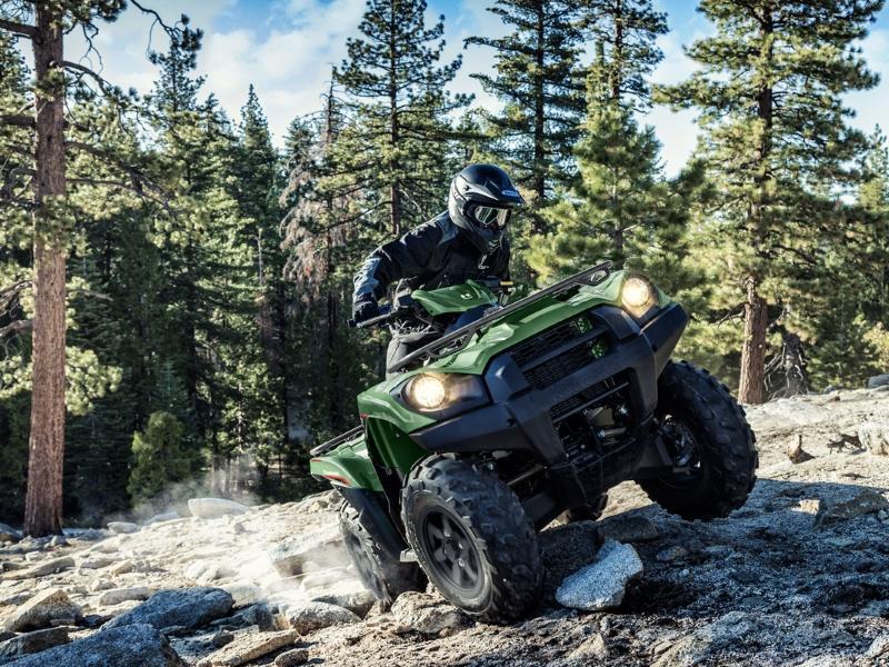 2019 Kawasaki® Brute Force® 750 on a trail