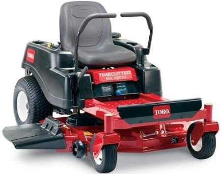 A Toro 42 TimeCutter MX4200 lawn mower