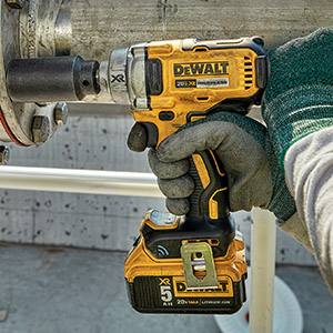 Using a DeWalt impact driver to loosen bolts