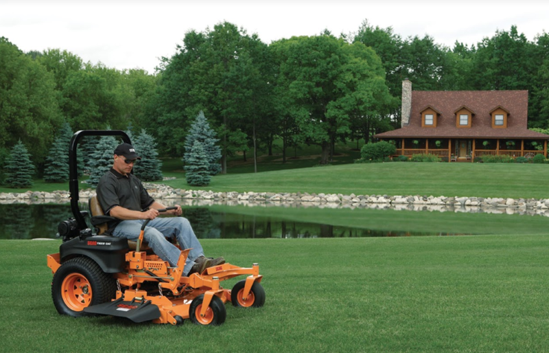 Scag Riding Lawn Mower Mowing Beautiful Country Property
