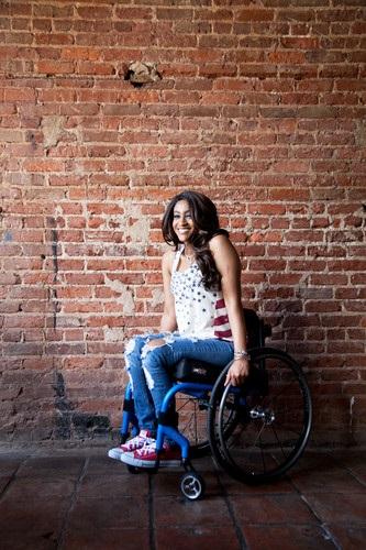 Woman in Manual Wheelchair