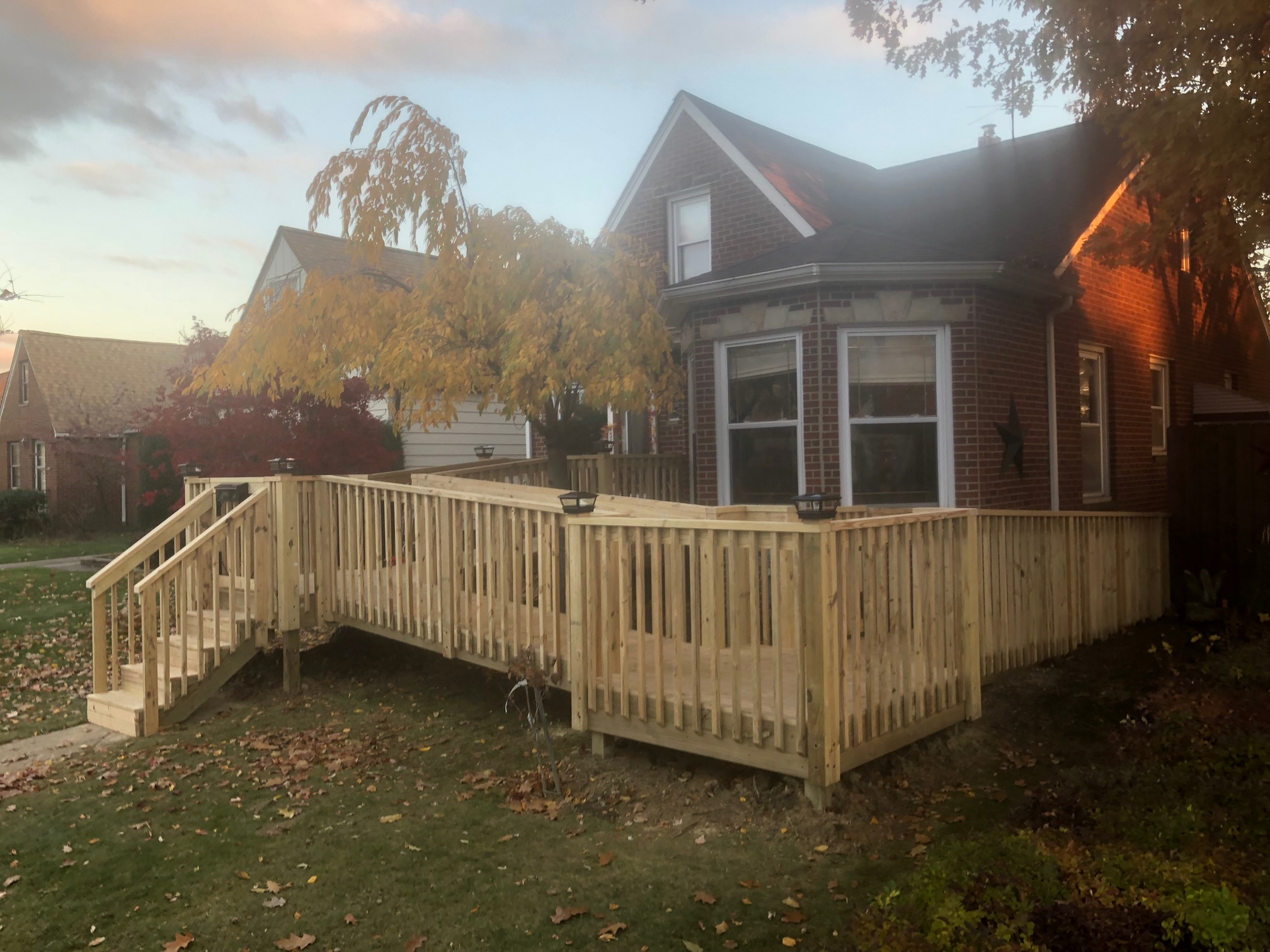 Permanent Wooden Wheelchair Ramp for Home Cleaveland