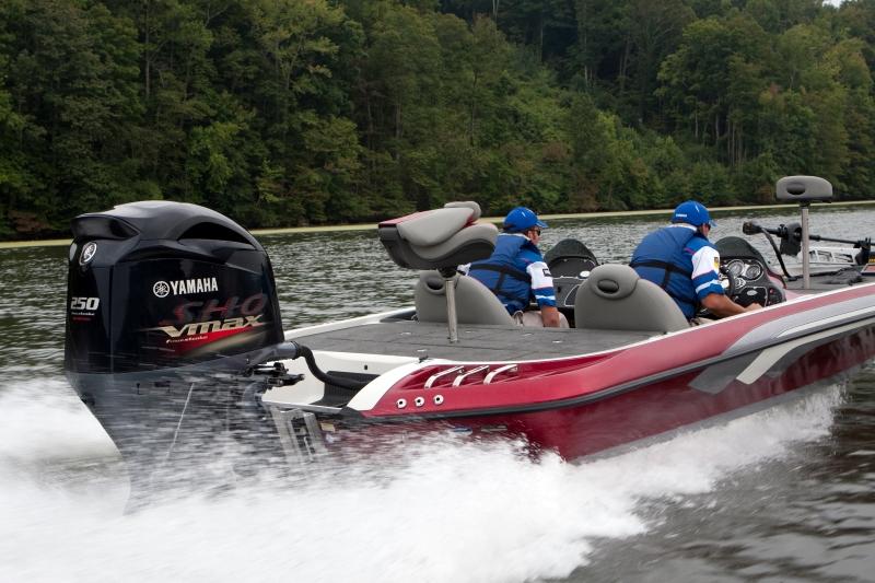 2019 V MAX SHO 250 Outboard Motor on Fishing Boat