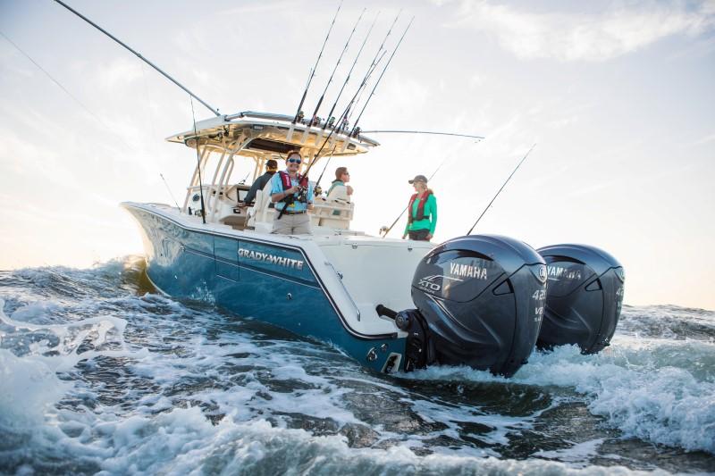 2019 Yamaha XTO Outboards on Grady White Fishing Boat