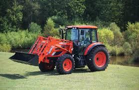 Kioti Tractor in a yard.